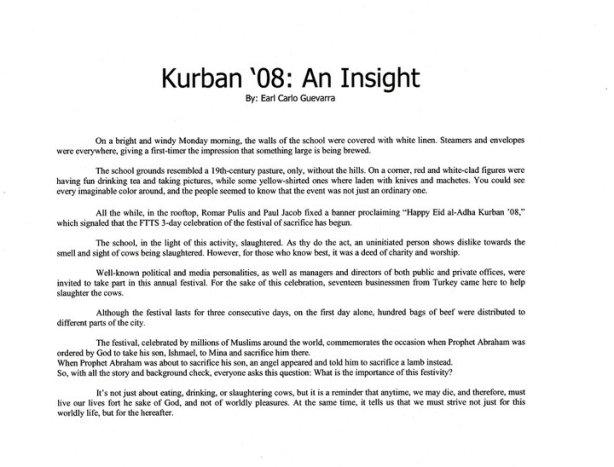 Kurban Article